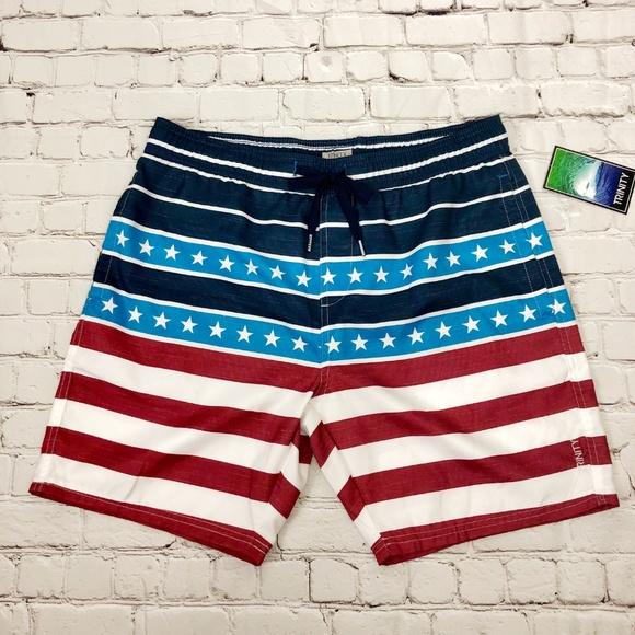 d6f029b957 Trinity Swim   Board Shorts Stars And Stripes   Poshmark